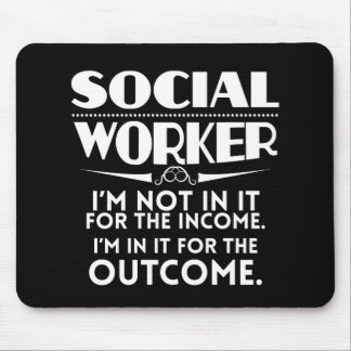 Social Worker Gag Gift Funny MSW Mouse Pad