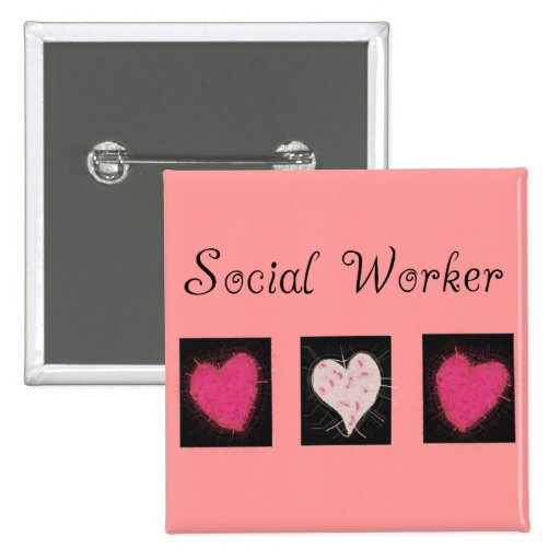 Social Worker Gifts 2 Inch Square Button