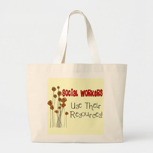 Social Worker Gifts and T-Shirts Jumbo Tote Bag