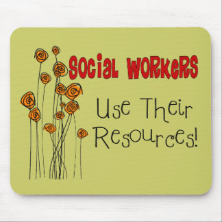 Social Worker Gifts and T-Shirts Mousepads