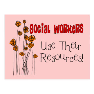 Social Worker Gifts and T-Shirts Post Card