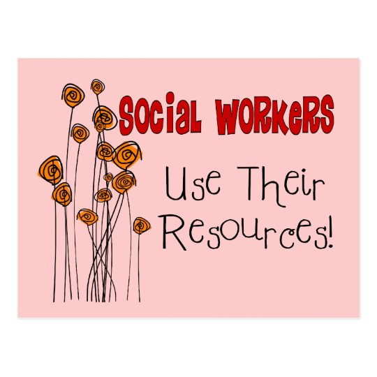 Social Worker Gifts and T-Shirts Postcard