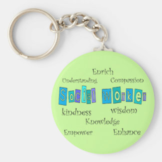 Social Worker Gifts Basic Round Button Keychain