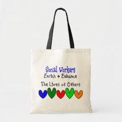 Social Worker Gifts Budget Tote Bag