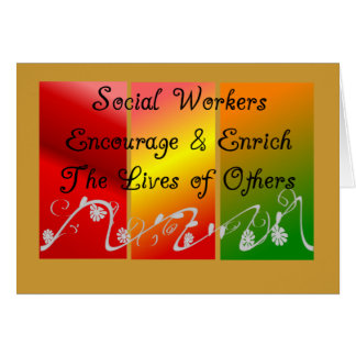 Social Worker Gifts Greeting Card