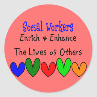 Social Worker Gifts Classic Round Sticker