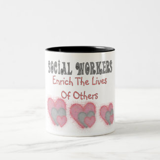 "Social Worker Gifts ""Enrich The Lives of Others"" Two-Tone Coffee Mug"