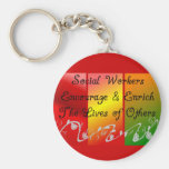 Social Worker Gifts Keychain