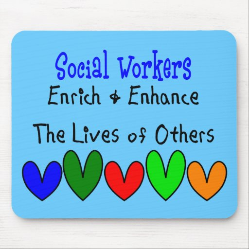 Social Worker Gifts Mouse Pad | Zazzle