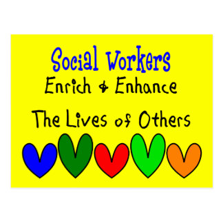 Social Worker Gifts Postcard