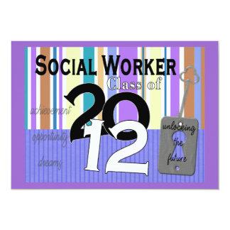 Social Worker Graduation Invitations 2012