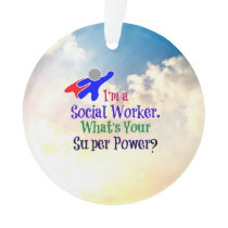 Social Worker Humor Ornament