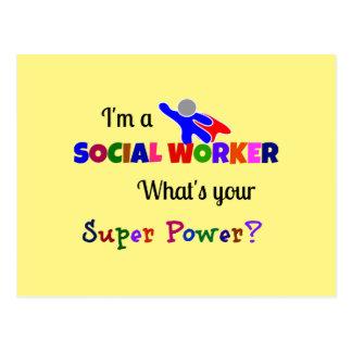 Social Worker Humor Postcard