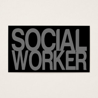 Social Worker in Silver and Black Business Card