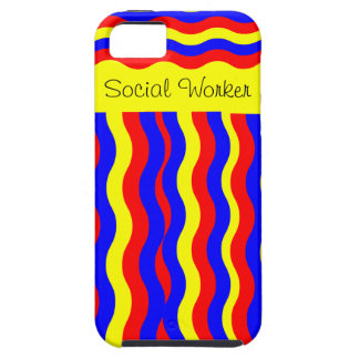 Social Worker iPhone 5 Case Whimsical Stripes