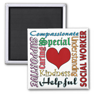 Social Worker 2 Inch Square Magnet