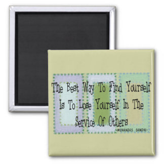 Social Worker (Mahandas Gandhi Quote) 2 Inch Square Magnet