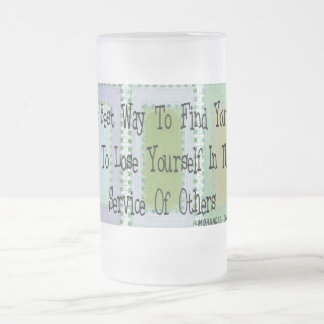 Social Worker (Mahandas Gandhi Quote) Frosted Glass Beer Mug