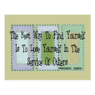 Social Worker (Mahandas Gandhi Quote) Postcards
