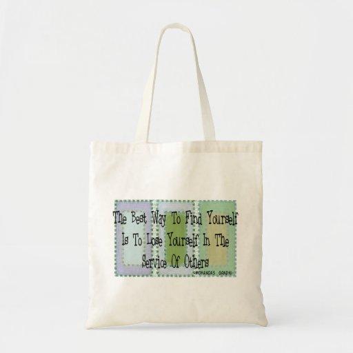 Social Worker (Mahandas Gandhi Quote) Tote Bags