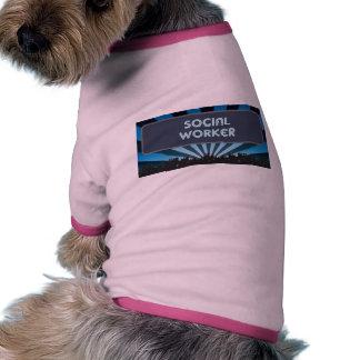 Social Worker Marquee Pet T Shirt