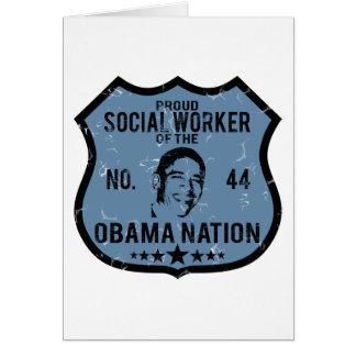 Social Worker Obama Nation Card