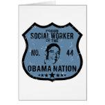 Social Worker Obama Nation Greeting Card