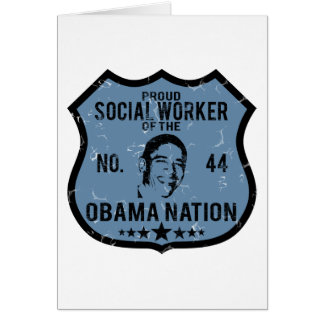 Social Worker Obama Nation Greeting Card