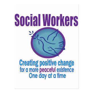 Social Worker Peace Dove Design Post Card