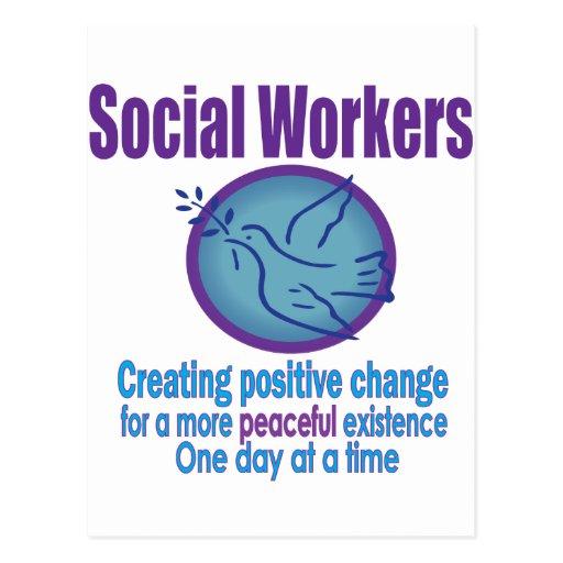 Social Worker Peace Dove Design Postcard