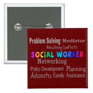 Social Worker Professional Duties Design Button