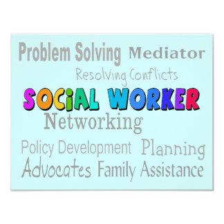 Social Worker Professional Duties Design Card