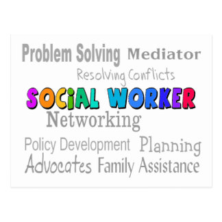 Social Worker Professional Duties Design Postcard
