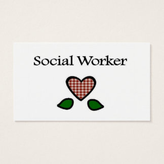 Social Worker Red GH Business Card