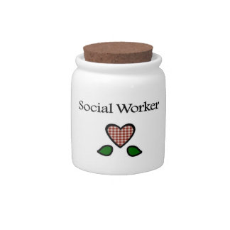 Social Worker Red GH Candy Jar