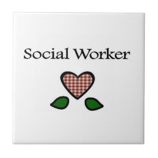 Social Worker Red GH Ceramic Tile