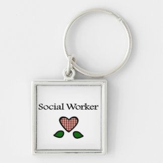 Social Worker Red GH Keychain