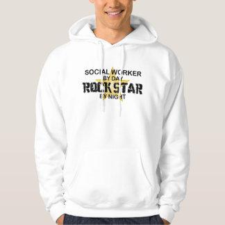 Social Worker Rock Star by Night Sweatshirts