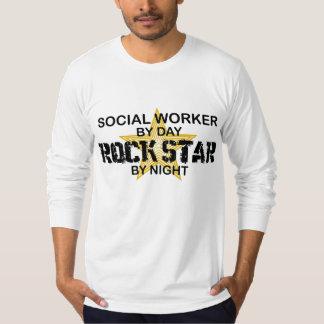 Social Worker Rock Star by Night T-Shirt