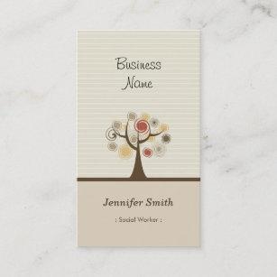 Social worker business cards templates zazzle social worker stylish natural theme business card colourmoves