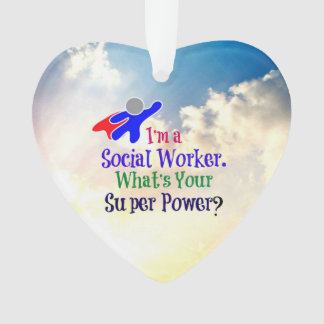 Social Worker Superhero Ornament
