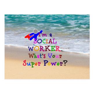 Social Worker Superhero, Social Worker Humor Postcard