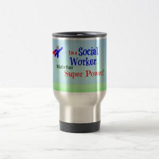 Social Worker Superhero Travel Mug