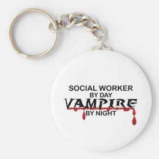 Social Worker Vampire by Night Keychain