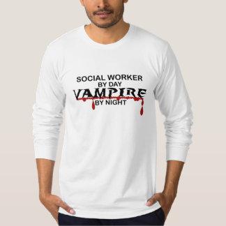 Social Worker Vampire by Night T-Shirt