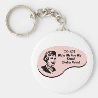 Social Worker Voice Keychains