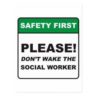 Social Worker / Wake Post Card
