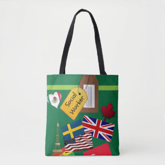 Social Worker, World Traveler Tote Bag