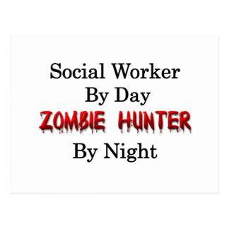 Social Worker/Zombie Hunter Postcard