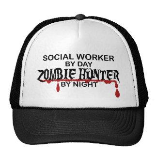 Social Worker Zombie Hunter Trucker Hat